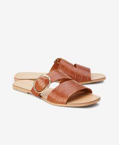 tan buckle sandal