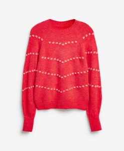 Red Bobble Jumper