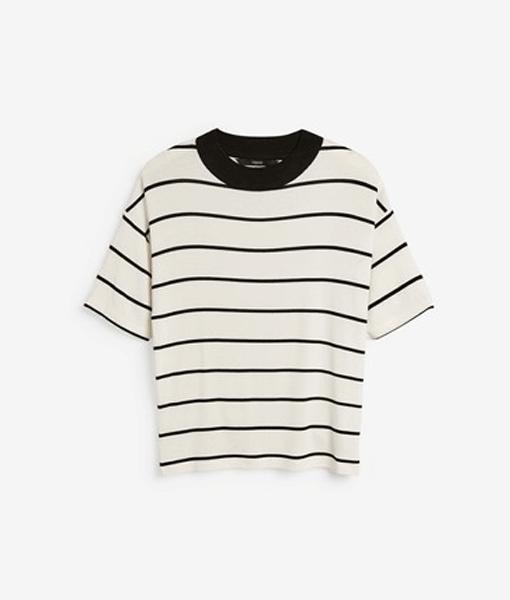 Stripe Ribbed Top