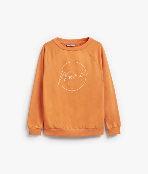 Orange Merci Sweatshirt