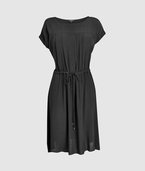 Black Drawstring Dress
