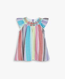 Rainbow Stipe Dress