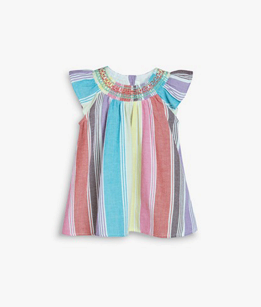 Rainbow Stipe Dress