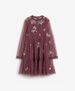 Berry Applique Dress