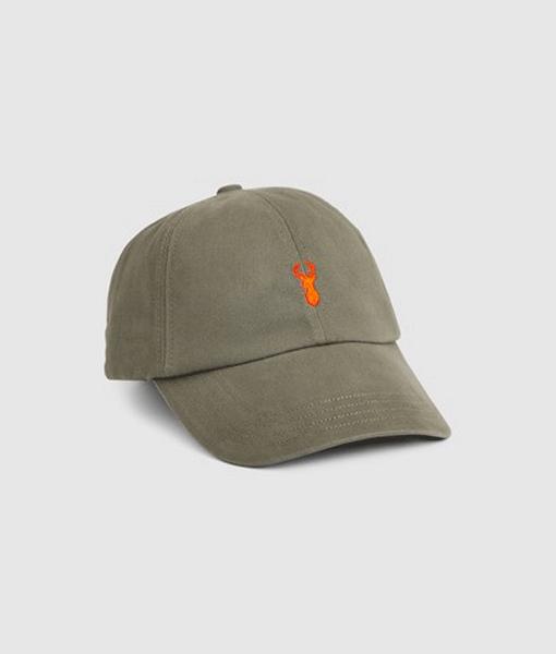Khaki Stag Cap