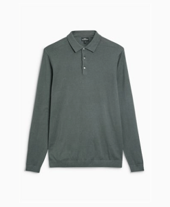 Green Long Sleeve Polo