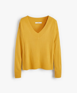 Ochre V-neck Jumper