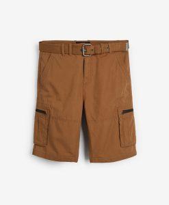 Tan Ripstop Cargo Shorts