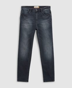 Dark Grey Straight Jeans