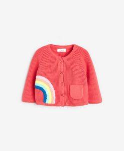 Coral Rainbow Cardigan