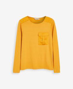 Mustard Pocket Top