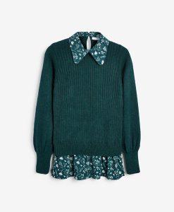 Floral Shirt Jumper