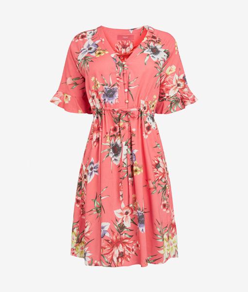 Pink Floral Tea Dress