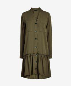 Khaki Drop Hem Dress