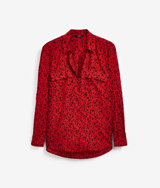 Red Leopard Print Shirt