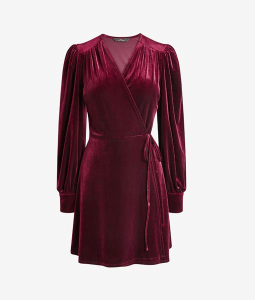 Magenta Velvet Dress