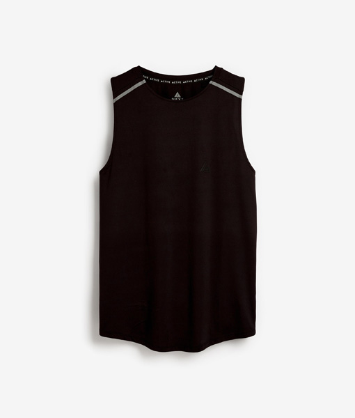 Black Activewear Vest