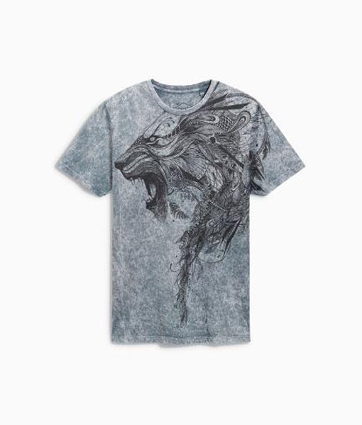 Acid Wash Lion T-shirt