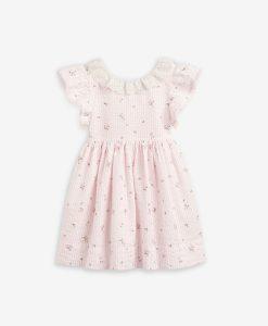 Pink Floral Stripe Dress