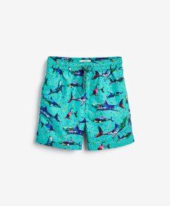 Turquoise Shark Swim Shorts